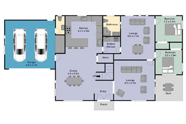 Colour Floor Plans